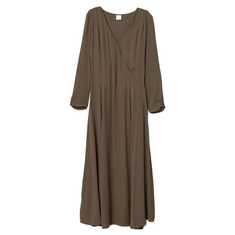 Naturnära färger brun klänning