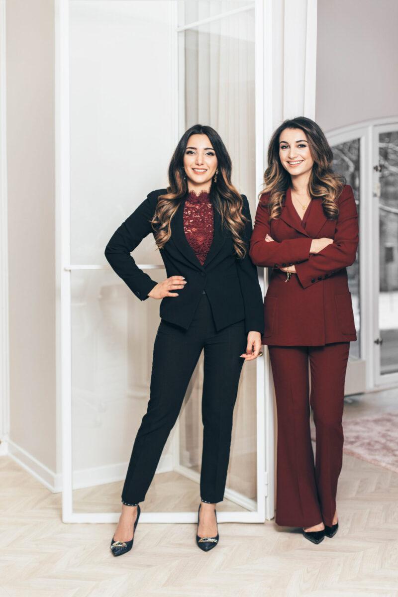 Bild på Nina Akbari och Arbilina Nissan, grundarna av Dashl