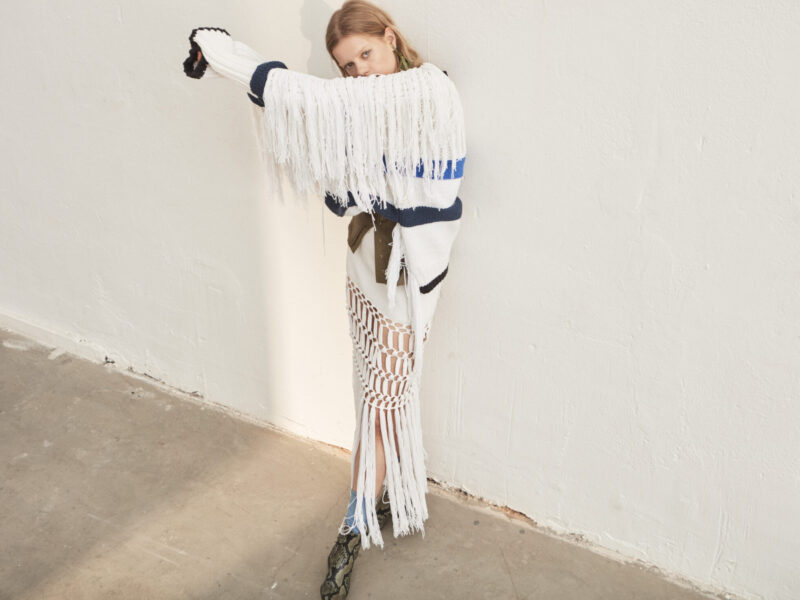 Vit tröja från Sonia Rykiel med fransar