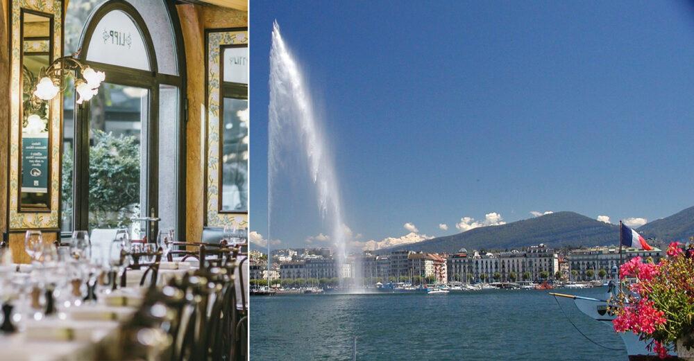 God mat och fantastiska omgivningar i Genève