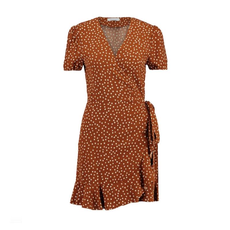 prickig brun klänning