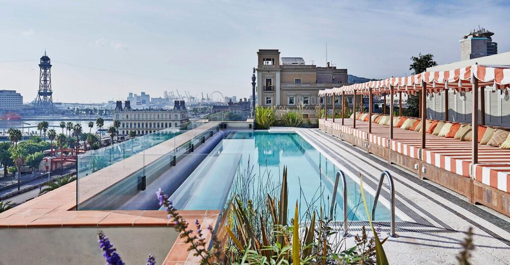 Utsikten från Soho House i Barcelona.