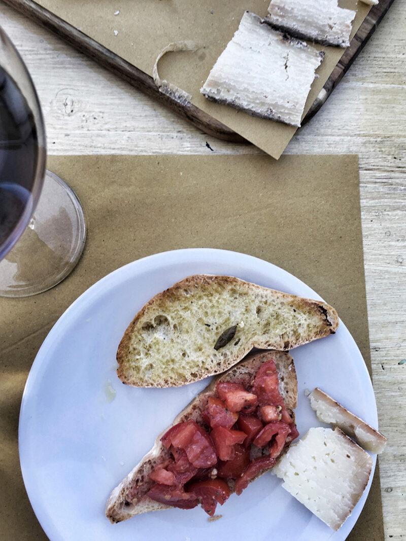 Lunch på La Bottega di Duddova.