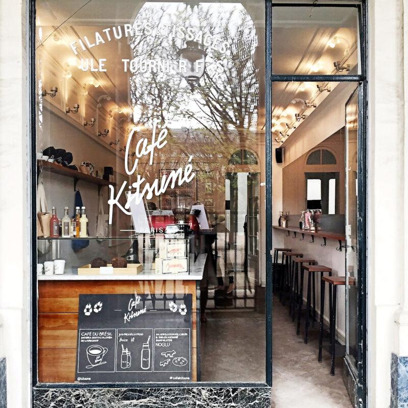 Ta en kaffepaus på Café Kitsuné.