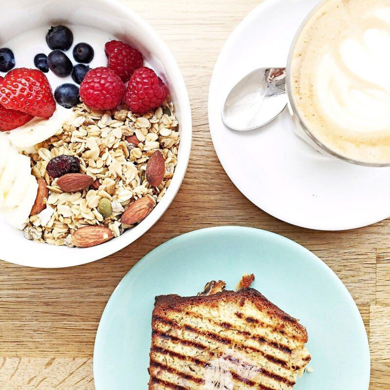Lyxfrukost på Café Oberkampf.
