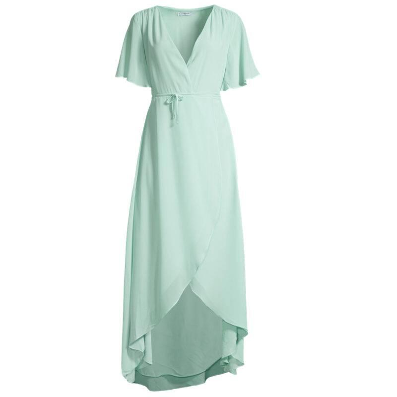 Klänning i turkosfärg
