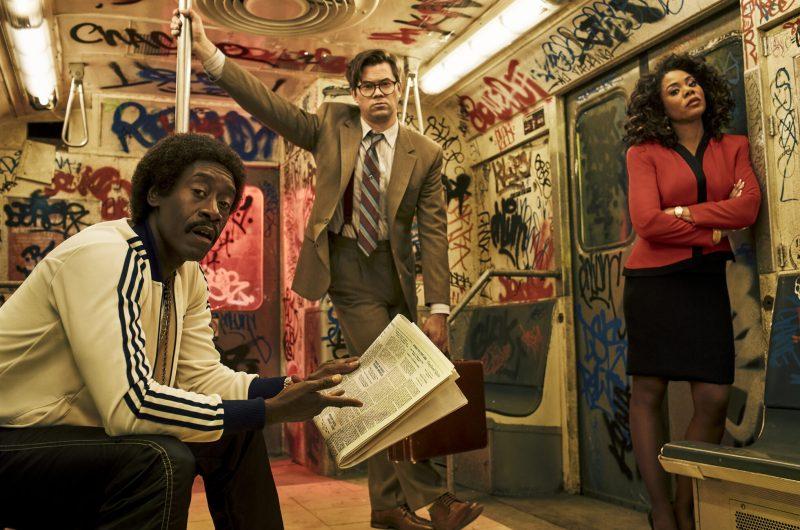 En bild på skådespelarna i tv-serien Black Monday, som visas på HBO.