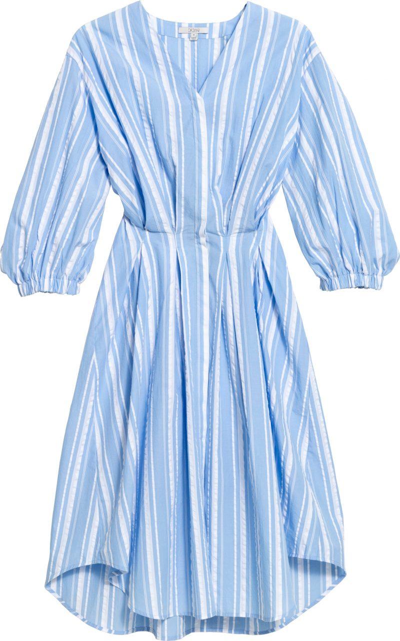 Blårandig klänning från House of Dagmar