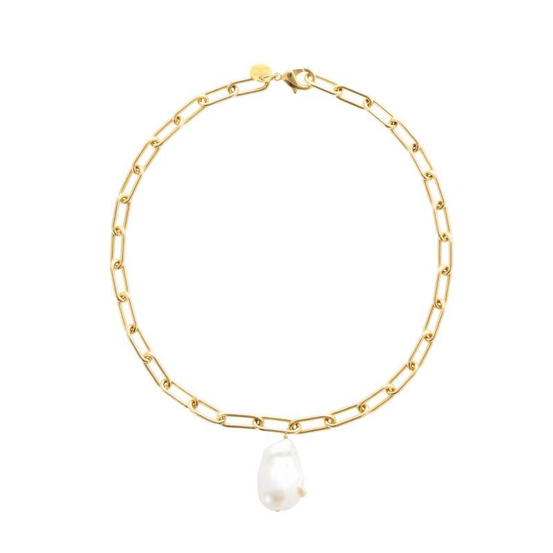 Guldhalsband med pärla från Sophie by Sophie