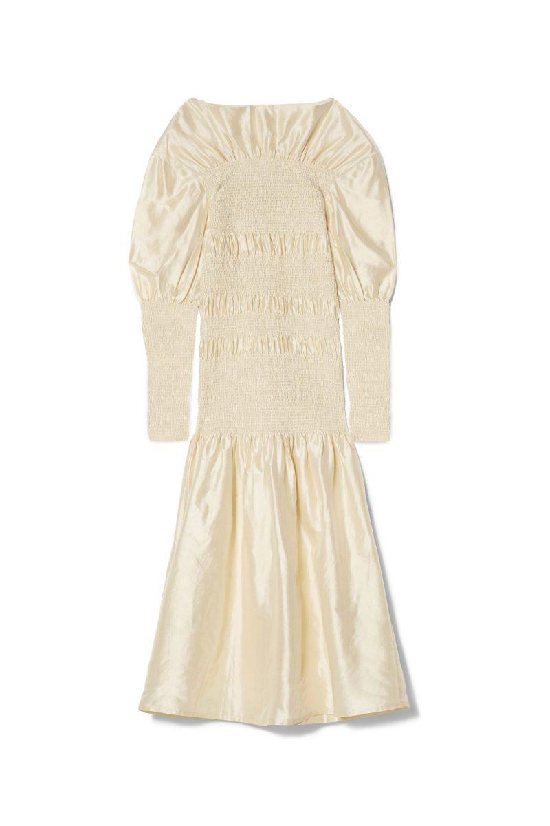 Glansig klänning från Totême