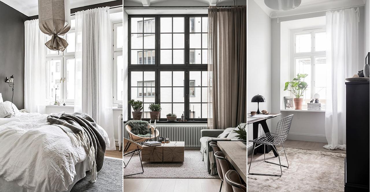 Välj rätt gardiner baserat på dina fönster