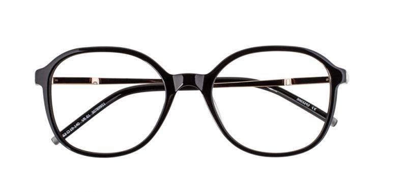 Optiska svarta runda bågar från Viktor&Rolf x Specsavers