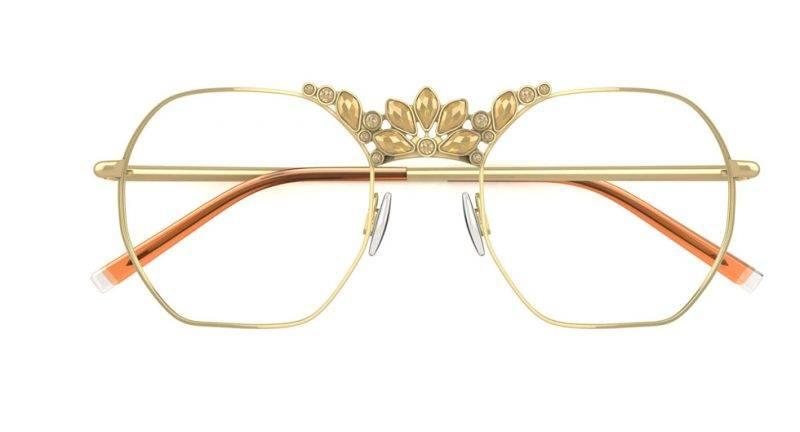 Guldbågar med strass från Viktor&Rolf x Specsavers