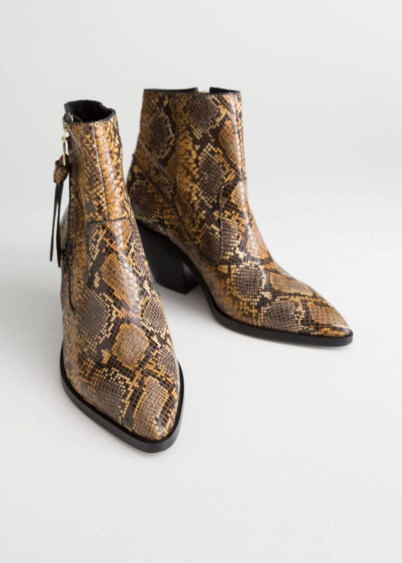 Mönstrade boots i cowboy-modell från & Other stories.