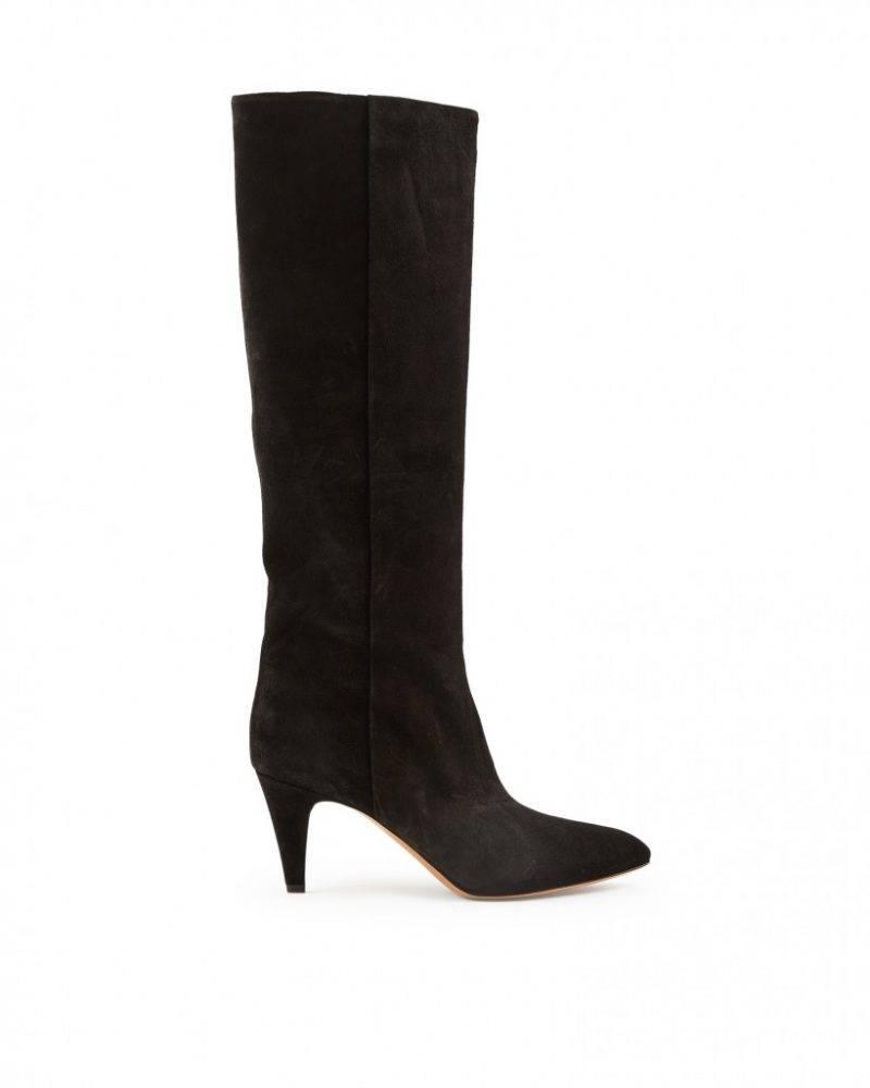 Lyxiga boots från Isabel Marant med en yta av mocka.