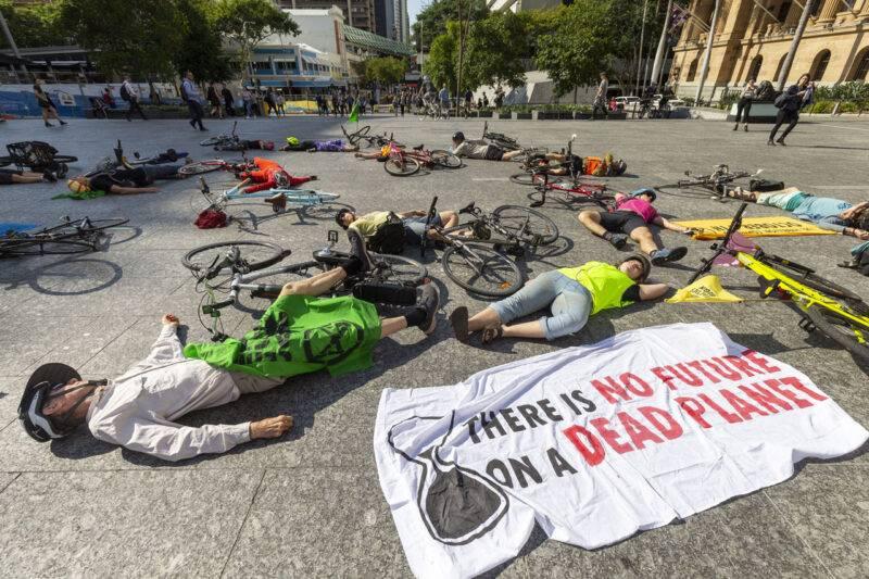 Greta Thunbergs strejk för klimatet ägde bland annat rum i Brisbane, Australien