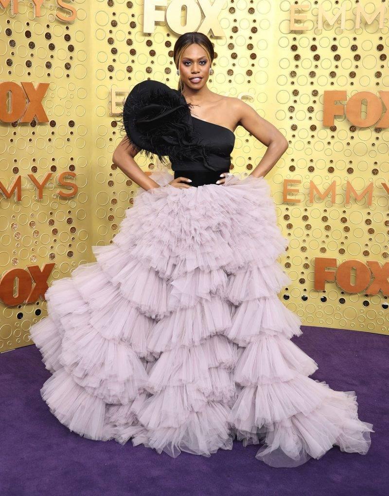 Laverne Cox på röda mattan på Emmy Awards 2019