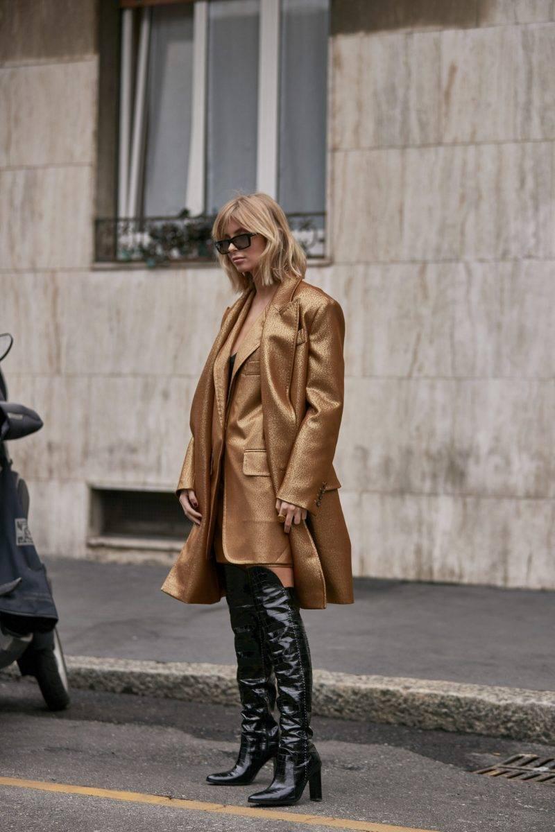 Milano Fashion Week Streetstyle SS20. Xenia Adonts.