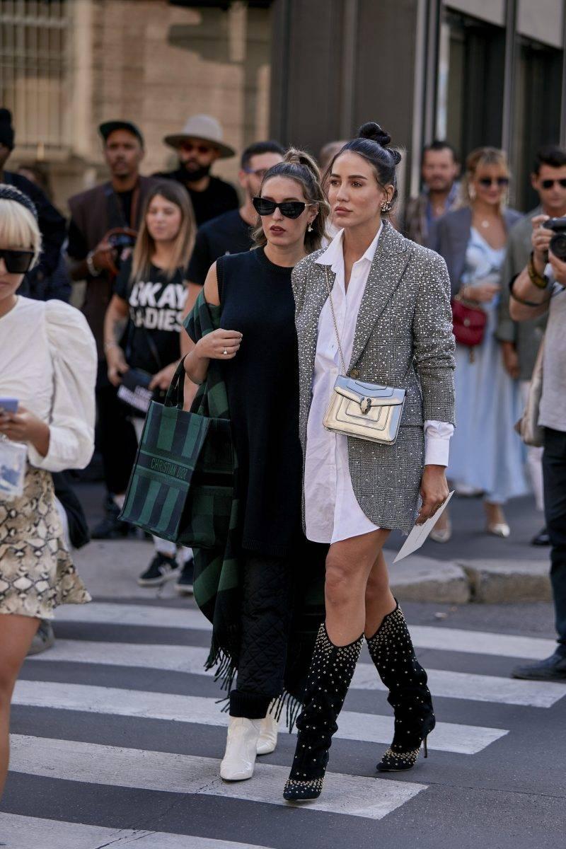 Milano Fashion Week Streetstyle SS20. Tamara Kalinic med vän.