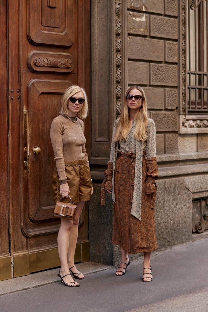 Milano Fashion Week Streetstyle SS20. Camelfärgade looks.