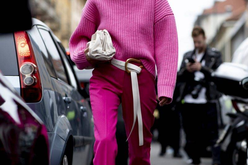 Milano Fashion Week Streetstyle SS20. Chockrosa look.