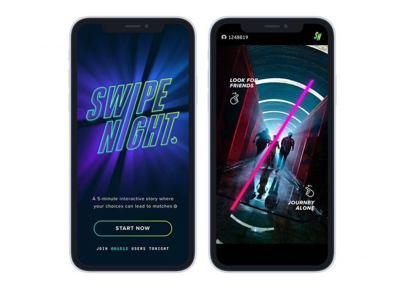 Tinder lanserar tv-serien Swipe night – så funkar det