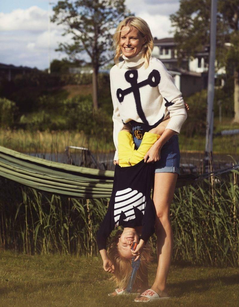 Caroline Winberg i exklusiv intervju i ELLE, Caroline tillsammans med sin son Casper