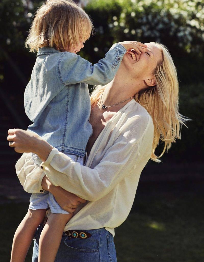 Caroline Winberg i exklusiv intervju i ELLE, Caroline med sin son Casper