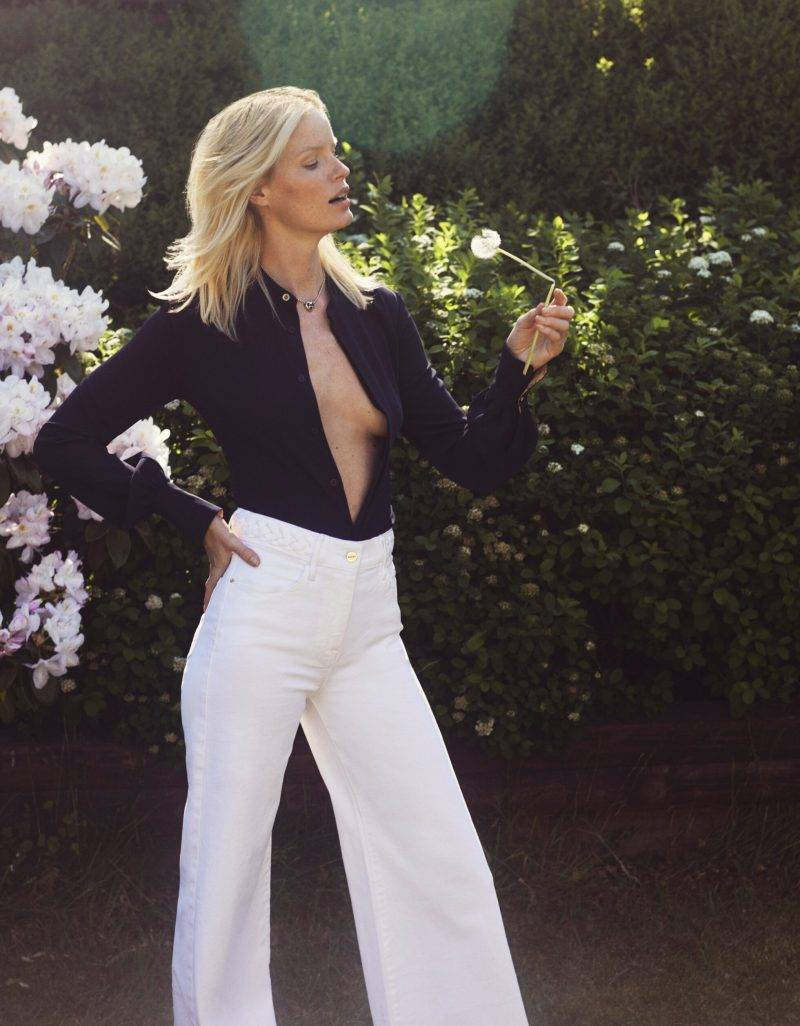 Caroline Winberg i exklusiv intervju i ELLE, byxor från Frame