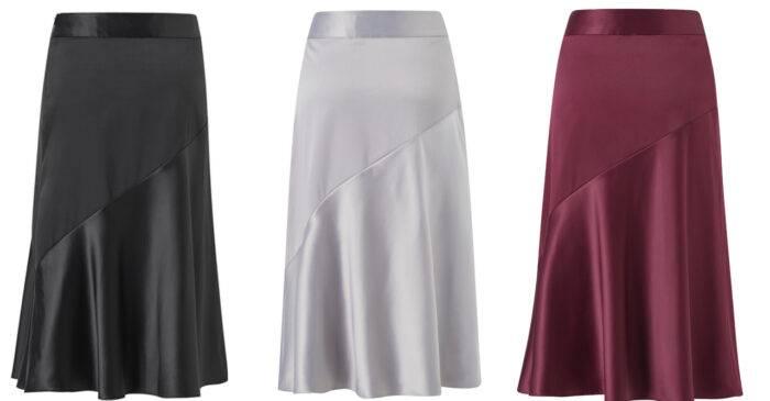 Glansiga kjolar från Stylein x Isabella Löwengrip för Ellos