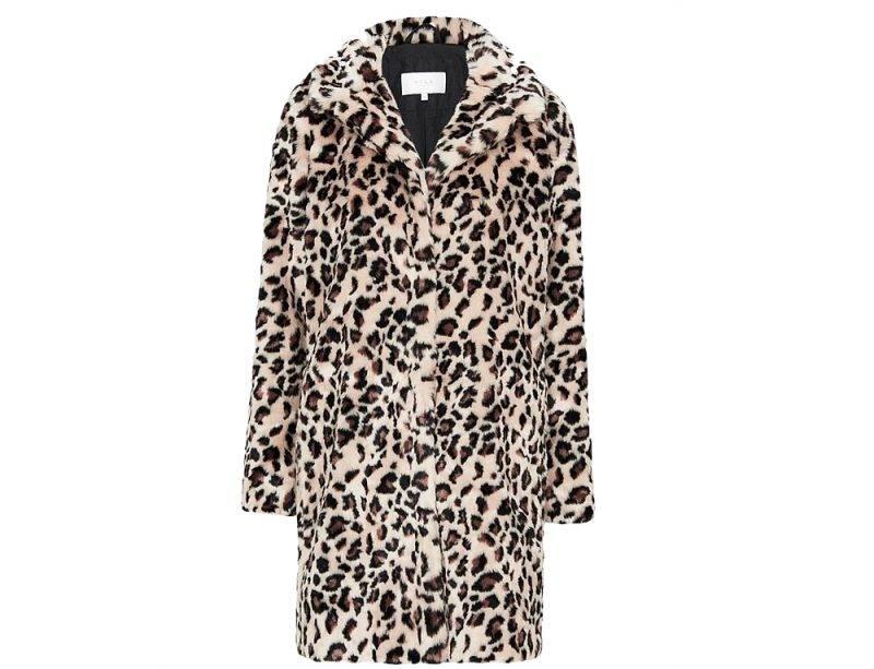Fuskpäls i leopard