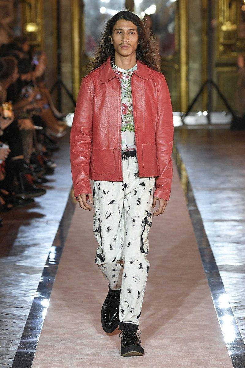 Herrlook med röd skinnjacka från Giambattista Valli x H&M.