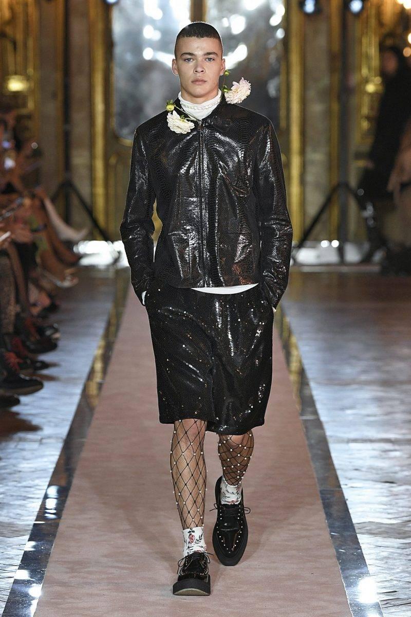 Herrlook med läder Giambattista Valli x H&M.