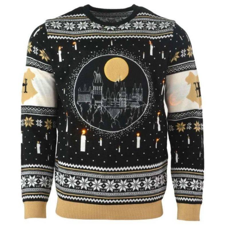 Jultröja med Harry Potter-motiv och ljus