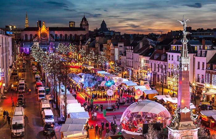 Julmarknad i Bryssel