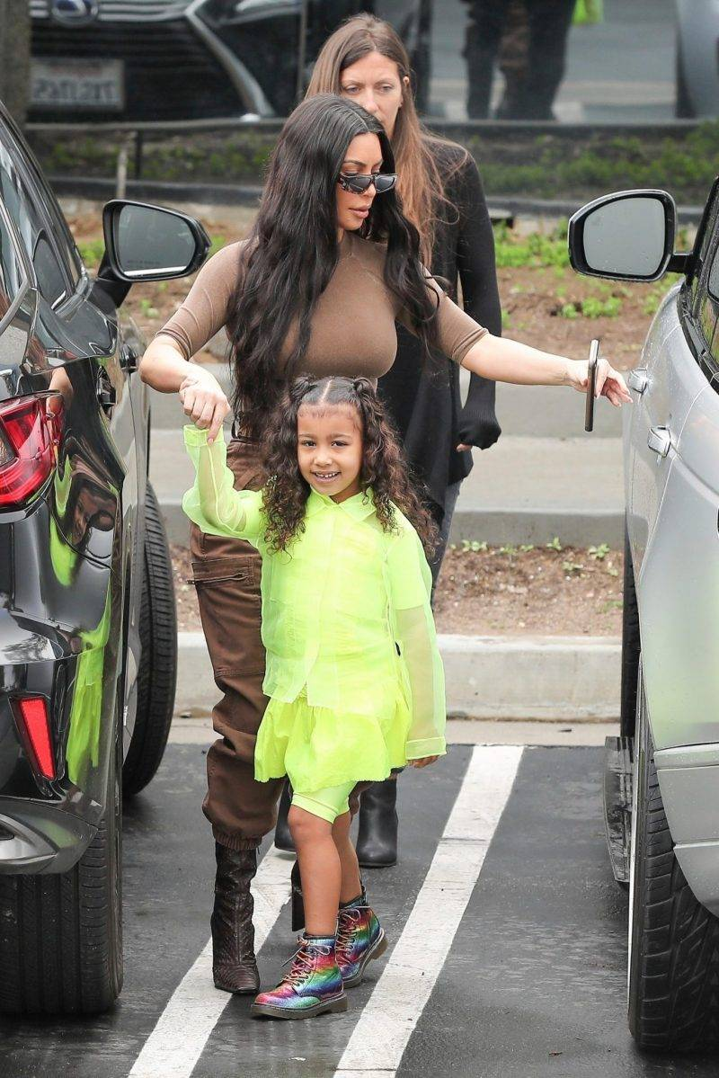 Kim Kardashian med dottern North West