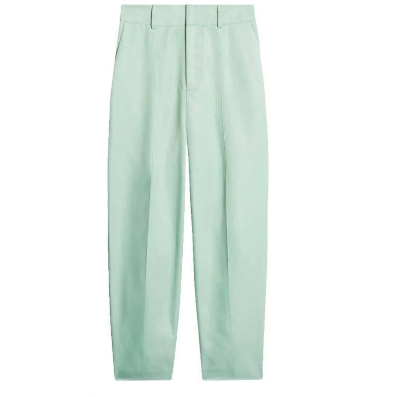 Pastellfärgade kostymbyxor mintgrön