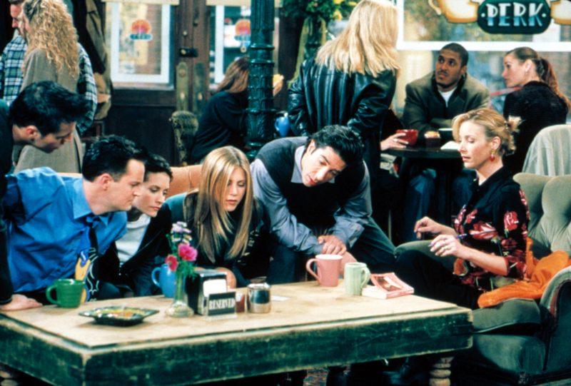 Vänner-gänget på Central Perk café