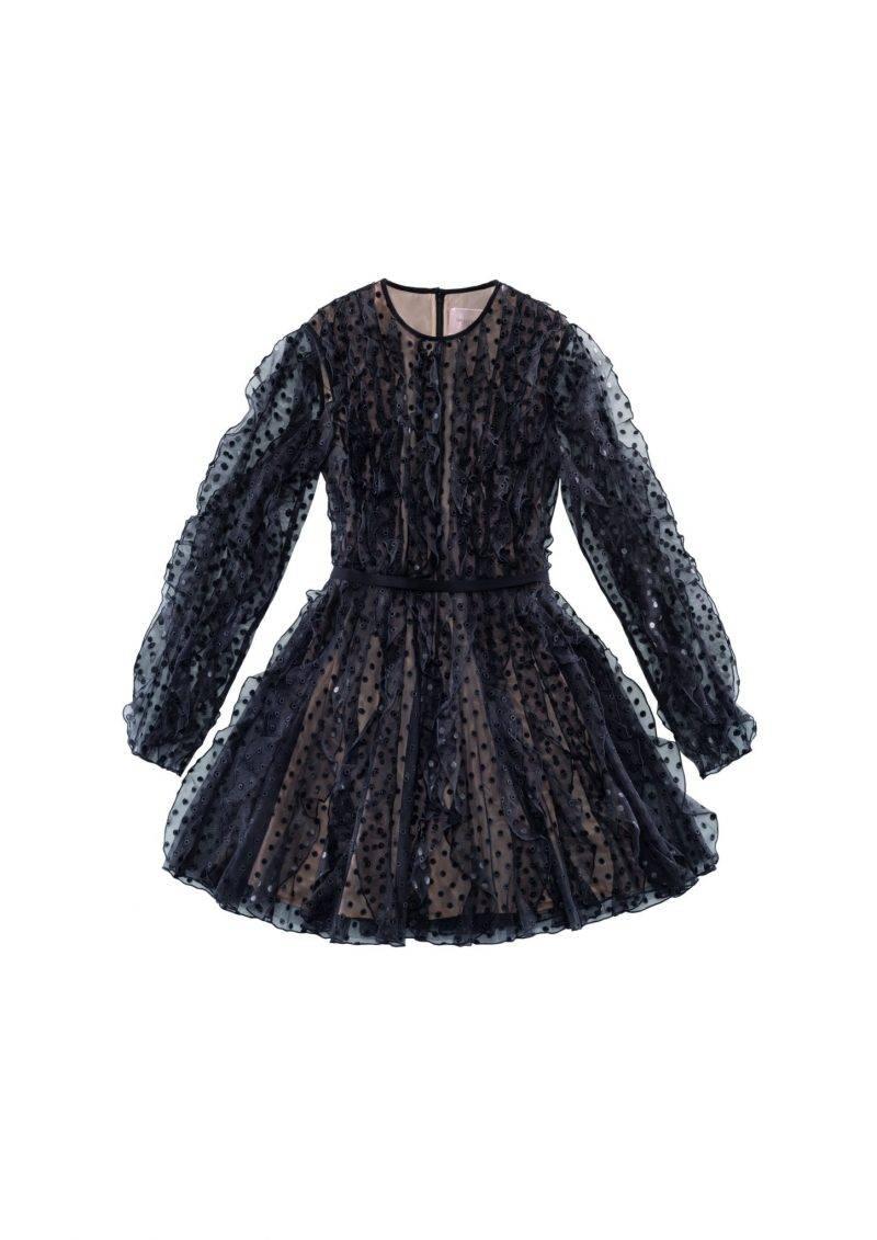 Festlig klänning med prickigt mönster och volanger från Giambattista Valli x H&M. Klicka hem klänningen här.