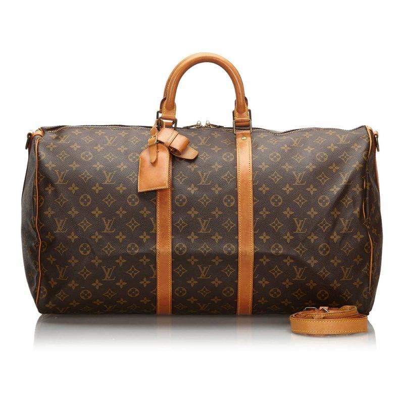 Monogram canvas keepall bandouliere 55 bag från Louis Vuitton.