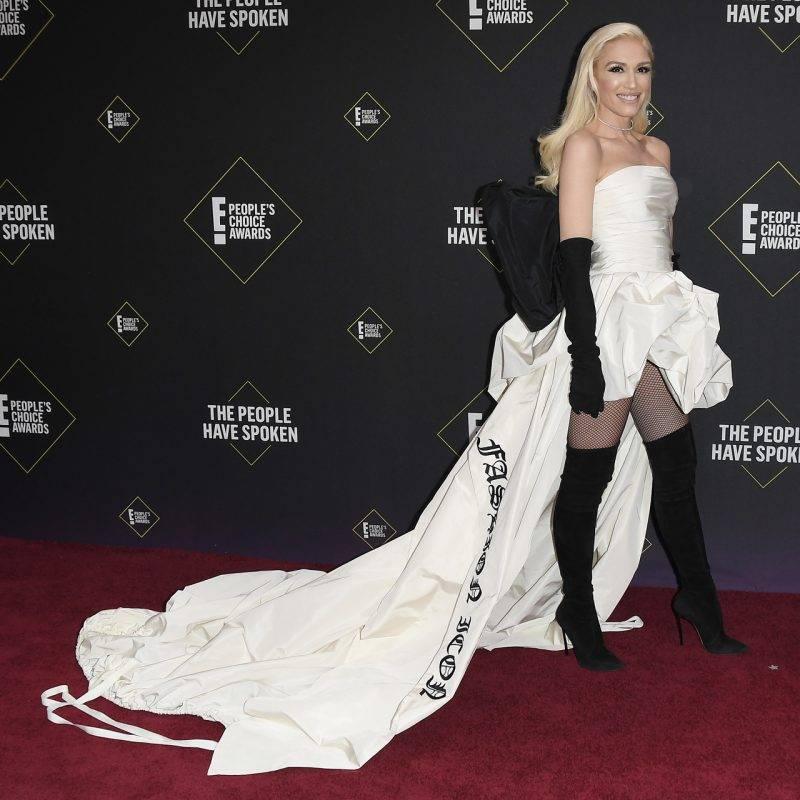 Gwen Stefani på röda mattan på People