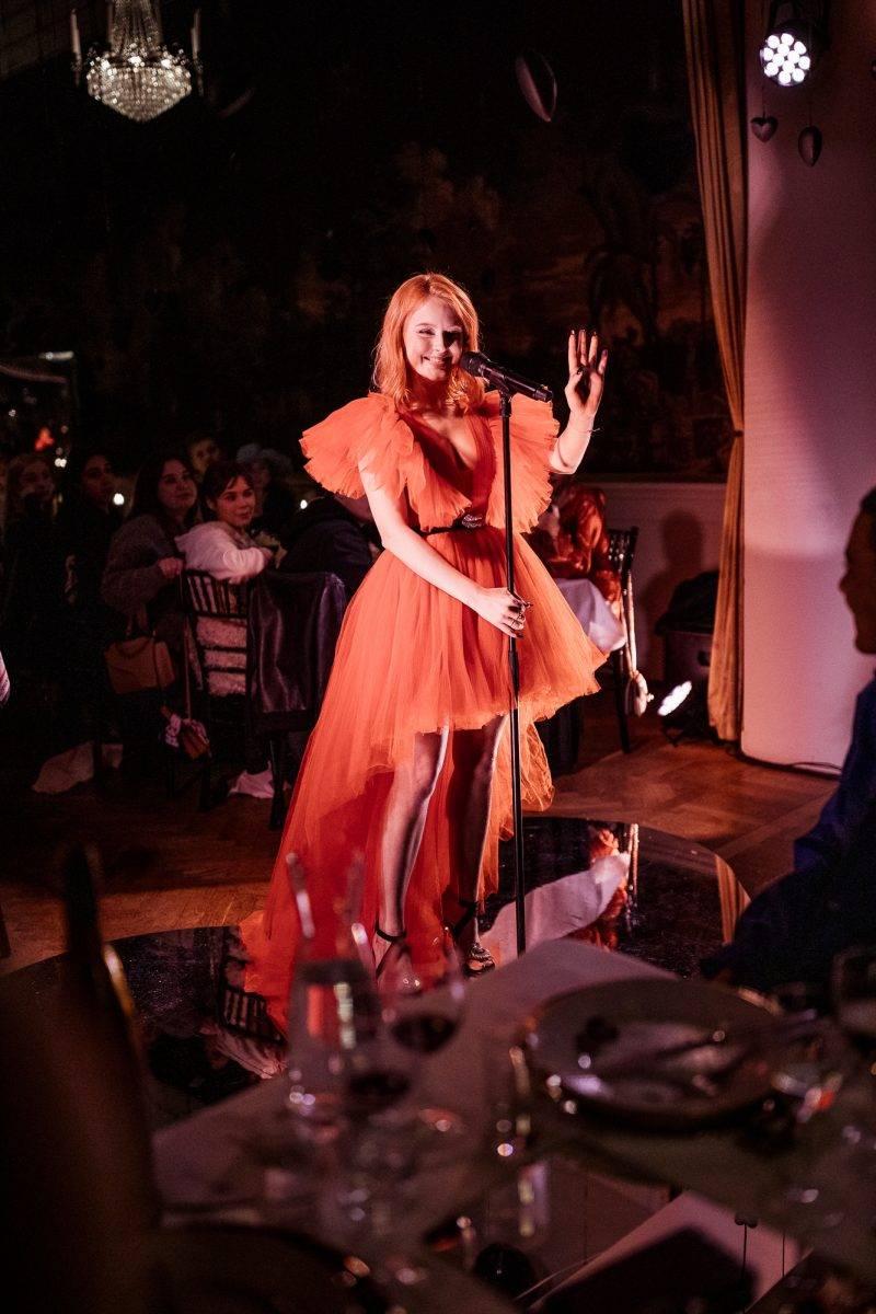 Zara Larsson preforming at Giambattista Valli x H&M in Stockholm