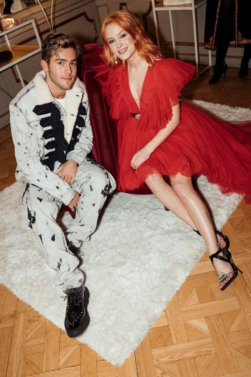 Benjamin Ingrosso och Zara Larsson på lanseringsevent för Giambattista Valli x H&M