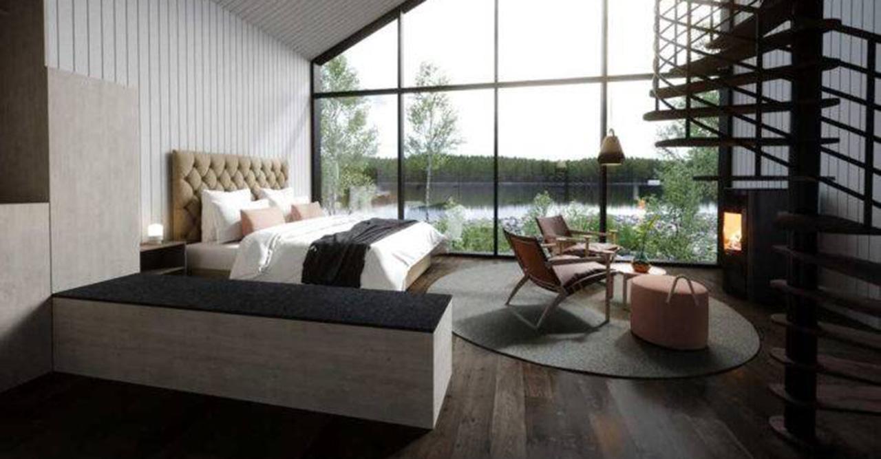 Kolla in i nya flytande lyxhotellet i Norrland – med en isvak i mitten!