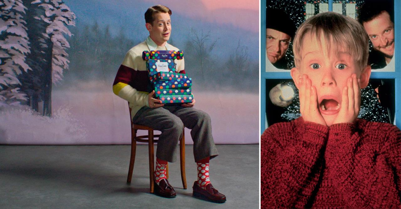 Macaulay Culkin i samarbete med Happy Socks
