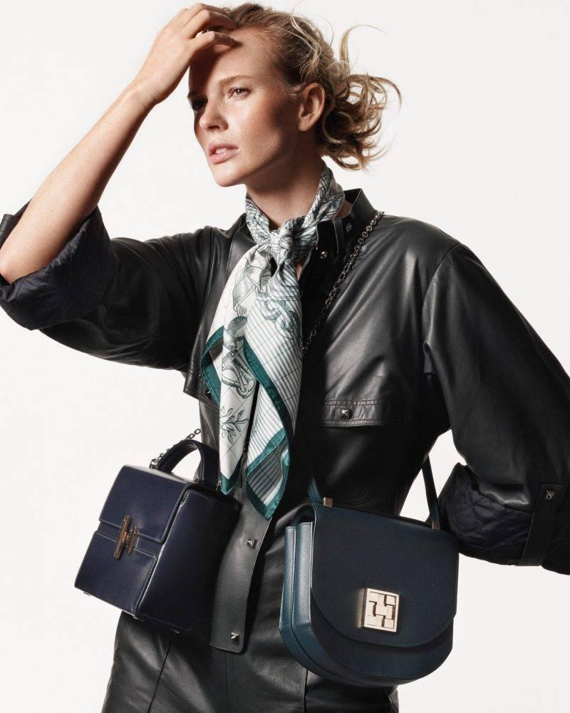 Svart skinnklänning från Hermès
