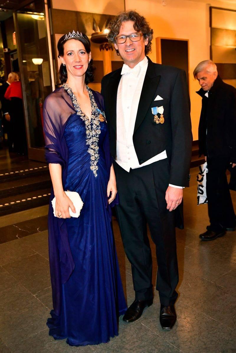 Bettina Bernadotte med maken Philipp Haug på Nobel 2019