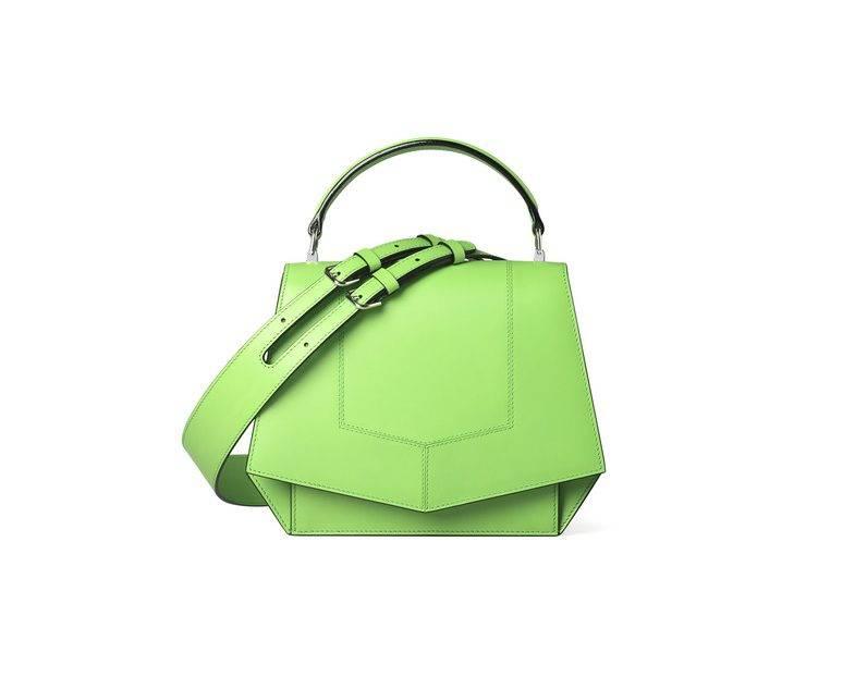 Neongrön väska från Byredo.