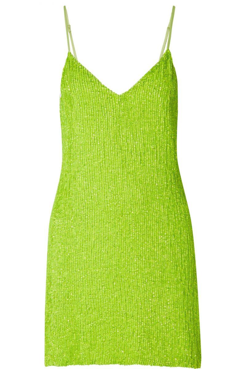Neongrön paljettklänning från Retrofête.
