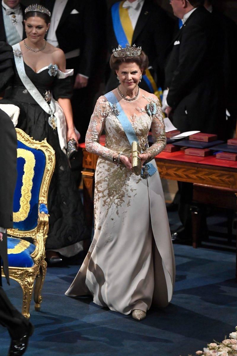 Drottning Silvia på Nobel 2019